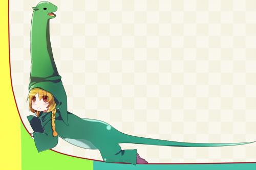 ロングテール恐竜のろんぐてーるちゃんの画像です。ロングテール現象やロングテールSEOを表しています。
