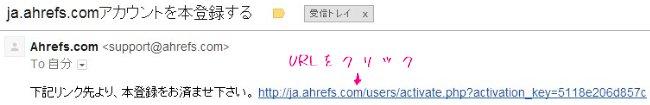 ahrefs.comから来たメールに載っているURL