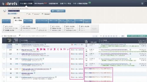 Ahrefs Site Explorerの無料アカウントの操作画面